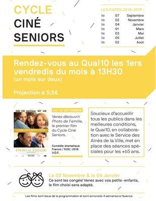 Spectacles Cycle Ciné Seniors : programme complet 18/2019