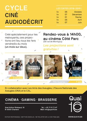 Spectacles Cycle Ciné Audiodécrit : programme complet 18/2019