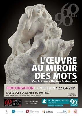 Expositions Exposition  60/90. l Oeuvre miroir mots. Cutsem - Horta - Rodenbach.
