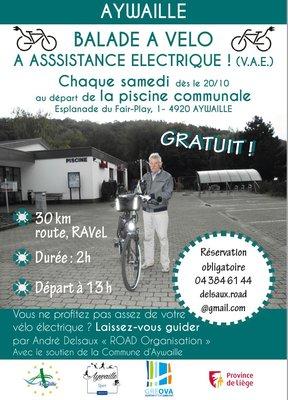 Loisirs Balade à vélo à assistance électrique