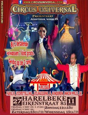 Voorstellingen Circus universal
