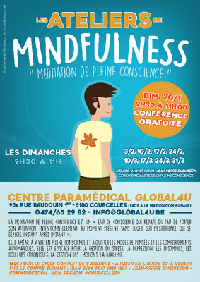 Stages,cours Ateliers pleine conscience (Mindfulness)