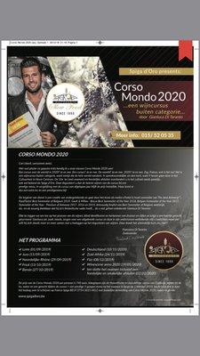 Workshops Wijncursus Mondo 2020 leraar (best sommelie belgium) Gianluca Taranto