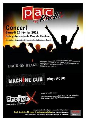 Soirées Pac Rock groupes Covers