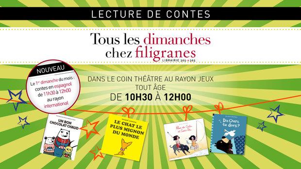 Spectacles Lecture contes chez Filigranes