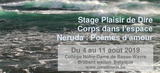 Stages,cours Stage Plaisir Dire / Corps dans l'espace Neruda : Poèmes d'amour