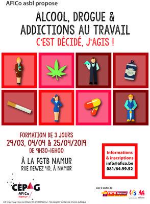 Stages,cours Formation  Alcool, drogue addictions travail : C est décidé, j agis !