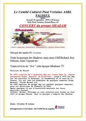 Concerts Concerrt   groupe  Shazam