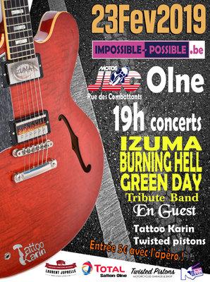 Concerts Soirée It s Possible rock n tattoos chez motos olne