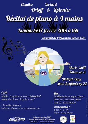 Concerts Concert piano profit l Opération Arc-en-Ciel