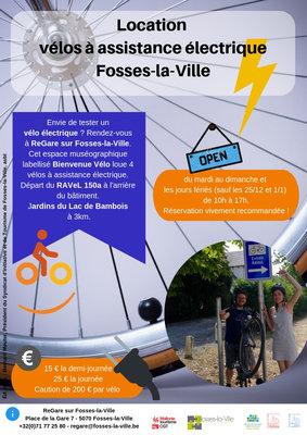 Loisirs Location vélos à assistance électrique