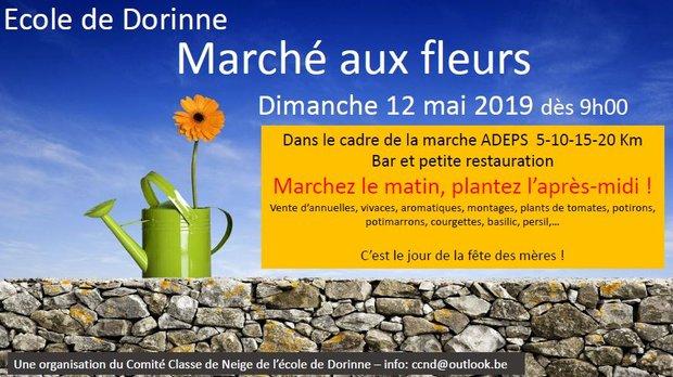 Loisirs Marche Adeps marché fleurs