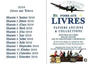 Loisirs Foire Livres, Documents, Vieux Papiers, Affiches, Cartographie, etc...