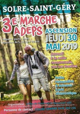 Loisirs 3ème Marche Adeps Solre-Saint-Géry