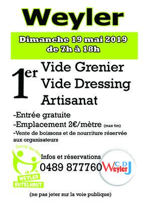 Loisirs Vide grenier - Vide dressing - Artisanat Weyler