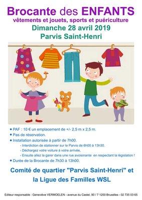 Loisirs Brocante enfants Parvis Saint-Henri