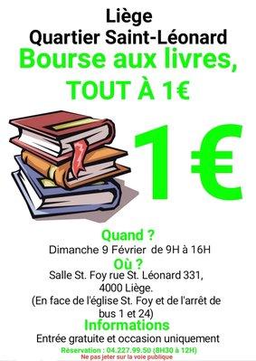 Loisirs Bourse livres quartier Saint-Leonard tous livres euro
