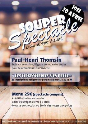 Soirées Souper Spectacle Paul-Henri Thomsin