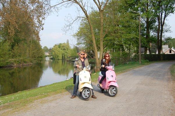 Ontspanning Prachtige Vesparoutes Vlaamse Ardennen, Leiestreek, Gent,Meetjesland