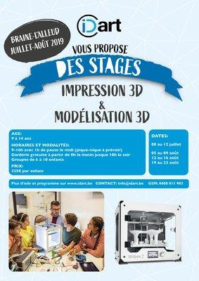 Stages,cours Stages d été 🏖 impression / scanning / modélisation !️💻