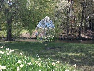 Expositions Sculptures jardin coeur Spa, à Galerie Azur