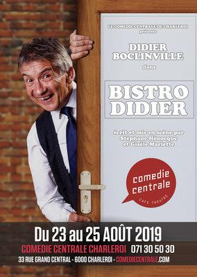 Spectacles Didier Boclinville - Bistro Didier