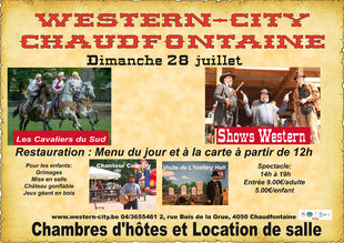 Loisirs Spectacle western animations enfants