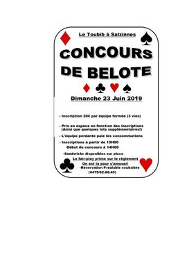 Loisirs Concours belote