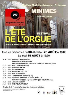 Concerten Brussel, orgel zomer, derde jaar