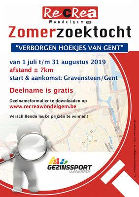 Ontspanning Zomerzoektocht  Verborgen hoekjes Gent