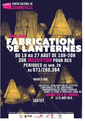 Stages,cours Atelier fabrication lanternes.