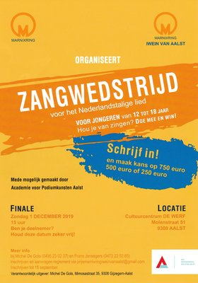 Concerten Zangwedstrijd  voor Nederlandstalige lied