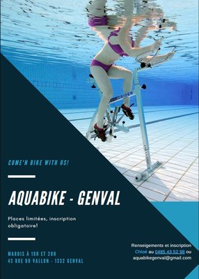 Stages,cours Aquabike Genval - Cours collectifs