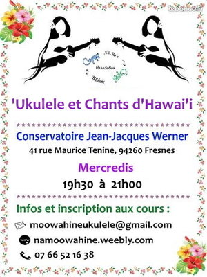 Stages,cours  Ukulele Chants d Hawai i