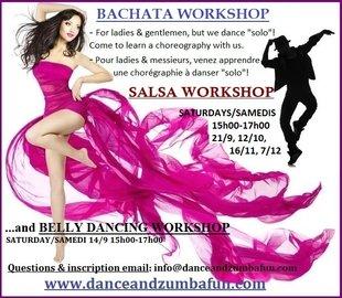 Stages,cours Stages salsa bachata: choreos à danser  solo  pour femmes hommes