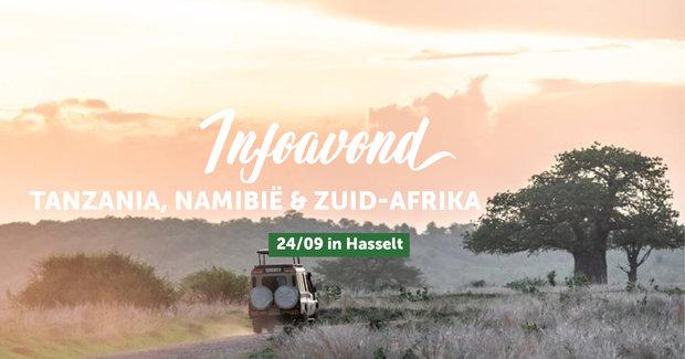 Voorstellingen Infoavond Tanzania, Zuid-Afrika Namibië je eigen gezelschap Hasselt