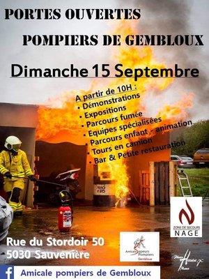Loisirs Porte ouverte Pompiers Gembloux