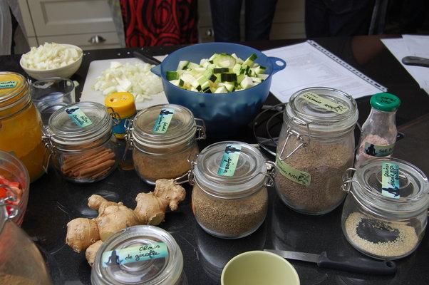 Stages,cours Ateliers cuisine saine végétarienne ayurvédique