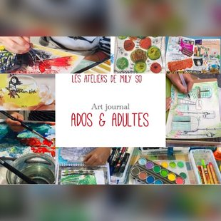 Stages,cours Atelier pour adolescents adultes:  Art journal