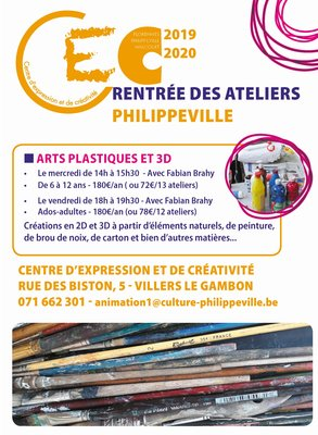 Stages,cours Ateliers expression picturale & 3D