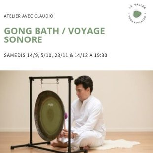 Stages,cours Gong bath - voyage sonore relaxant son instruments sacrés