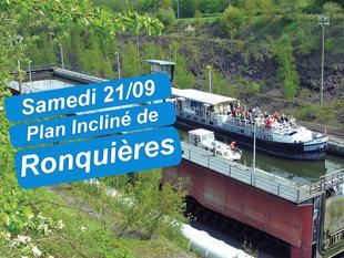 Loisirs Croisière guidée passant l unique Plan Incliné l ascenseur Strépy-Thieu.
