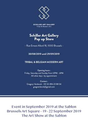 Expositions Schiller Gallery : moderne belge Art Tribal - Up Store.