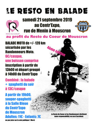 Loisirs Balade moto pour Resto balade 4ème édition la soirée spaghetti