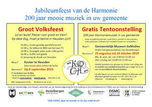 Tentoonstellingen Tentoonstelling jaar harmoniemuziek Heusden