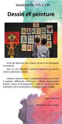 Stages,cours Atelier dessin / peinture