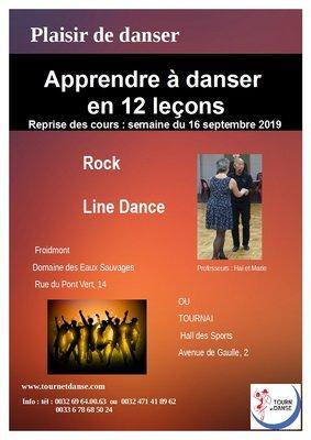 Stages,cours Cours danse ligne et/ou rock