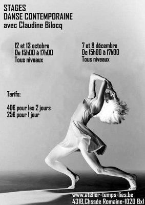 Stages,cours Atelier danse contemporaine avec Claudine Bilocq