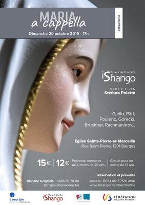 Concerts Concert Choeur Chambre Ishango