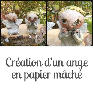 Stages,cours Création d'un ange papier mâché